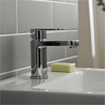 Kartell Logik Mono Basin Mixer With Click Waste - EverythingBathroom.co.uk