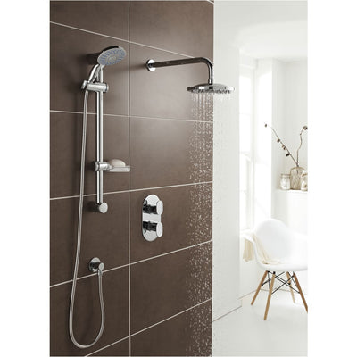 Kartell Logik Shower Deluge Adjustable Slide Rail Kit - EverythingBathroom.co.uk