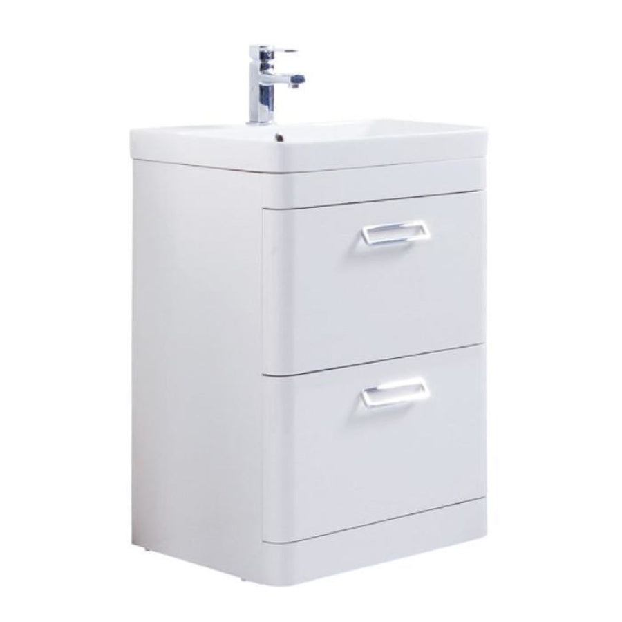 Kartell Metro Floor Standing Drawer Unit with Ceramic Basin
