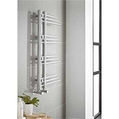 Kartell New York Heated Towel Rail - 500x900 - EverythingBathroom.co.uk