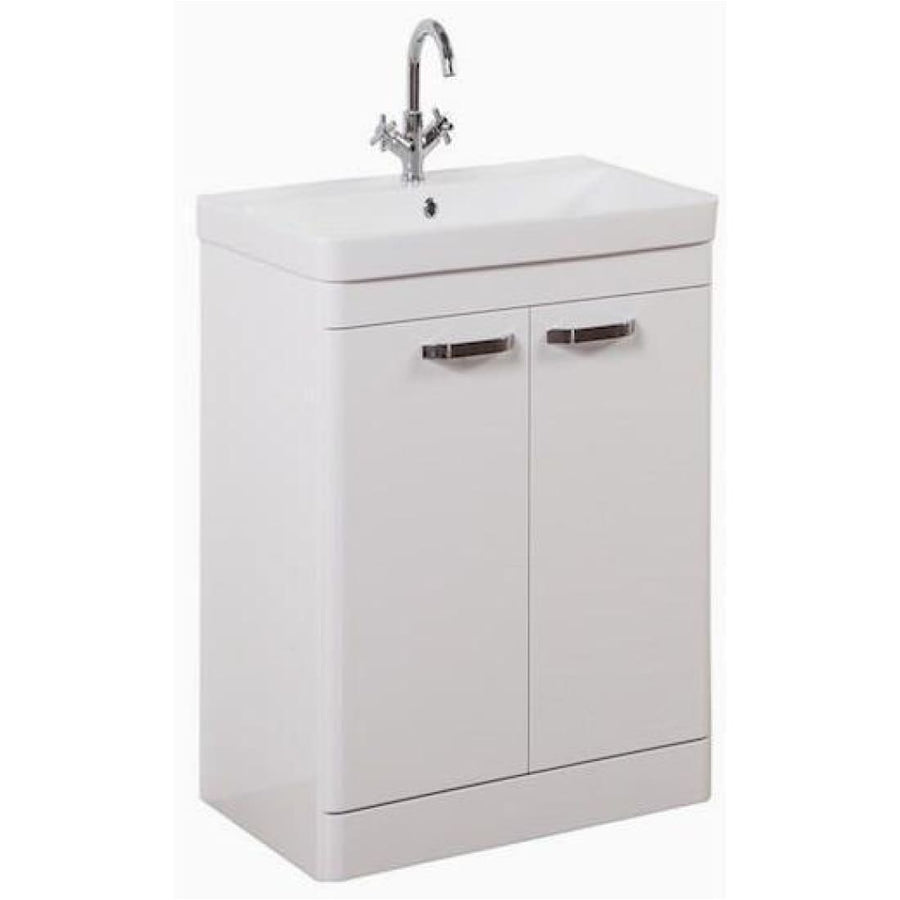 Kartell Options Floor Standing 2 Door Unit & Ceramic Basin