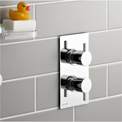 Kartell Plan Option 2 Thermostatic Concealed Shower With Fixed Overhead Drencher Everythingbathroom.co.uk