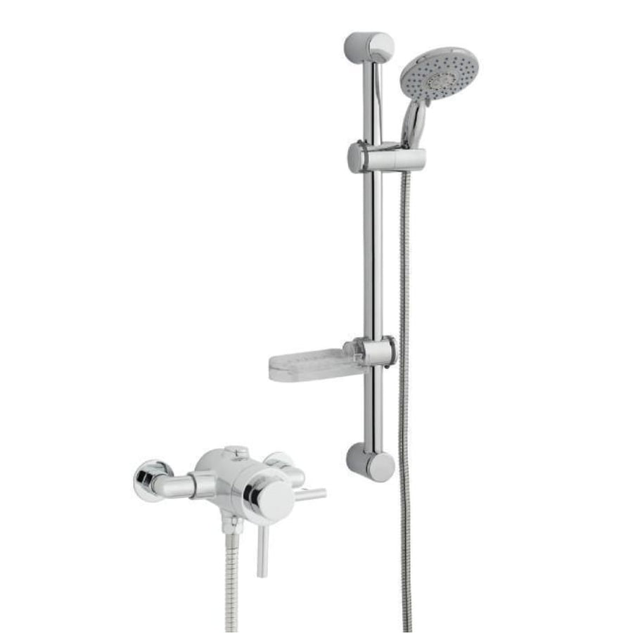 Kartell Plan Option 4 Thermostatic Exposed Shower with Adjustable Slide Rail Kit