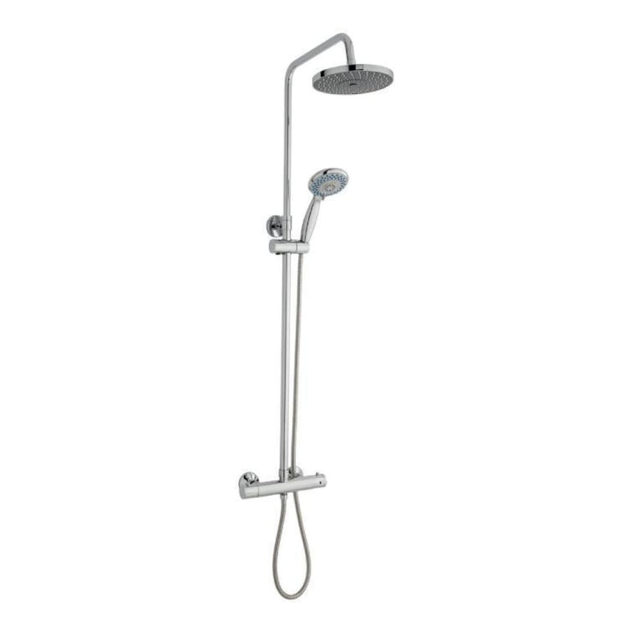 Kartell Plan Option 6 Thermostatic Exposed Bar Shower with Overhead Drencher and Sliding Handset