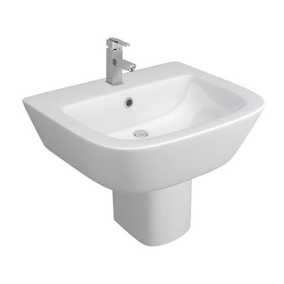 Kartell Project Round Basin and Semi Pedestal - EverythingBathroom.co.uk