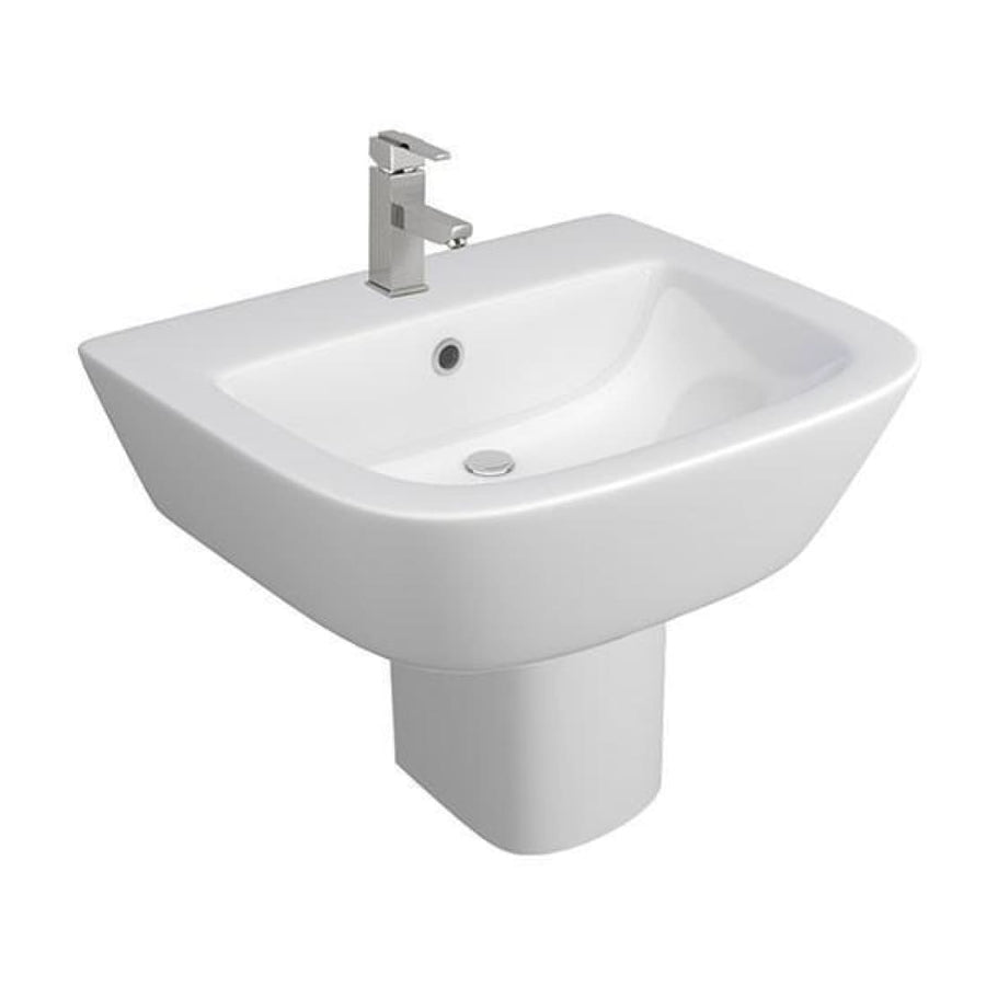 Kartell Project Square Basin and Semi Pedestal - EverythingBathroom.co.uk
