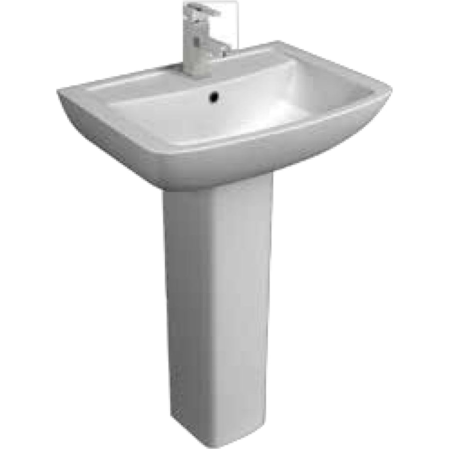Kartell Pure 550mm 1th Basin and Pedestal