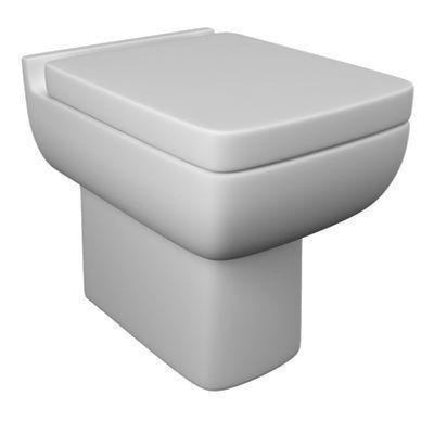 Kartell Pure Back To Wall Toilet With Soft Close Seat - EverythingBathroom.co.uk
