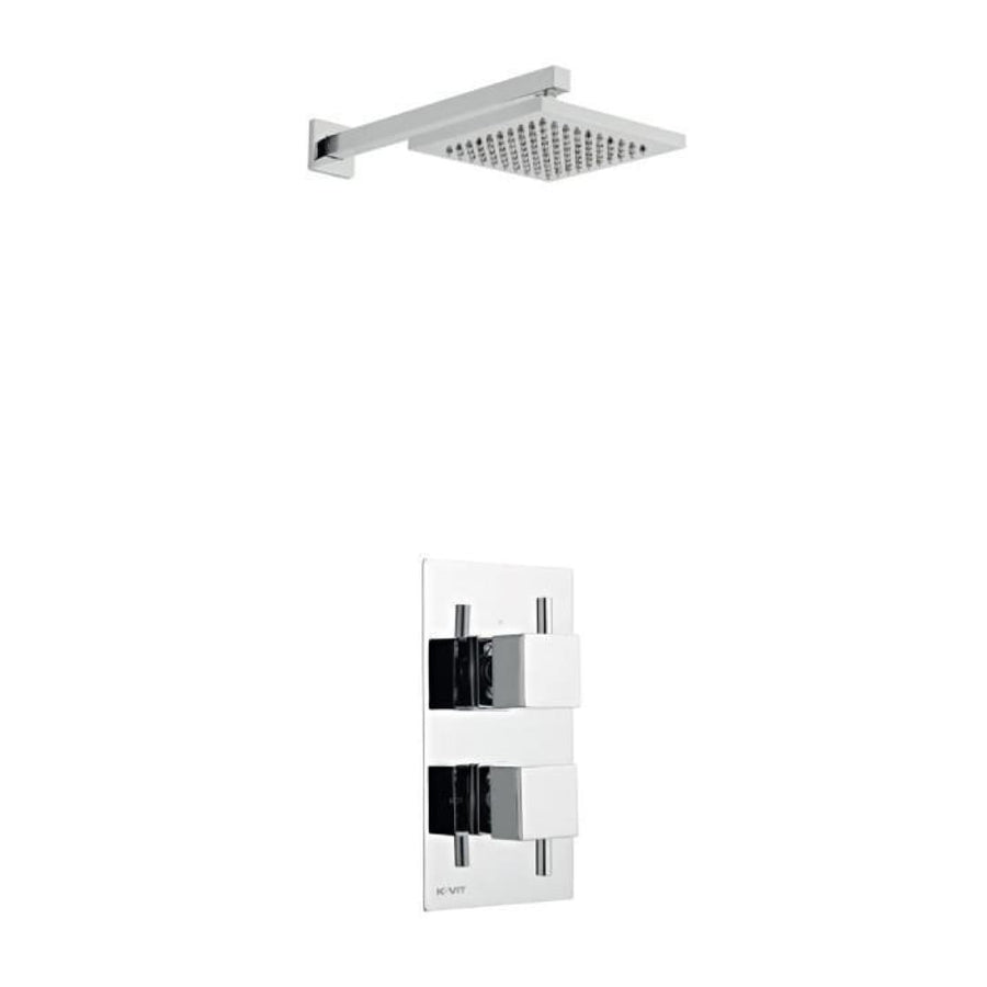 Kartell Pure Option 2 Thermostatic Concealed Shower with Fixed Overhead Drencher