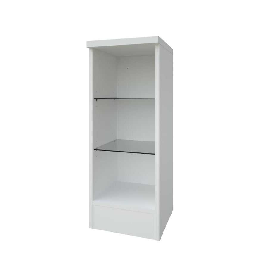 Kartell Purity 300mm Open Glass Shelf Unit