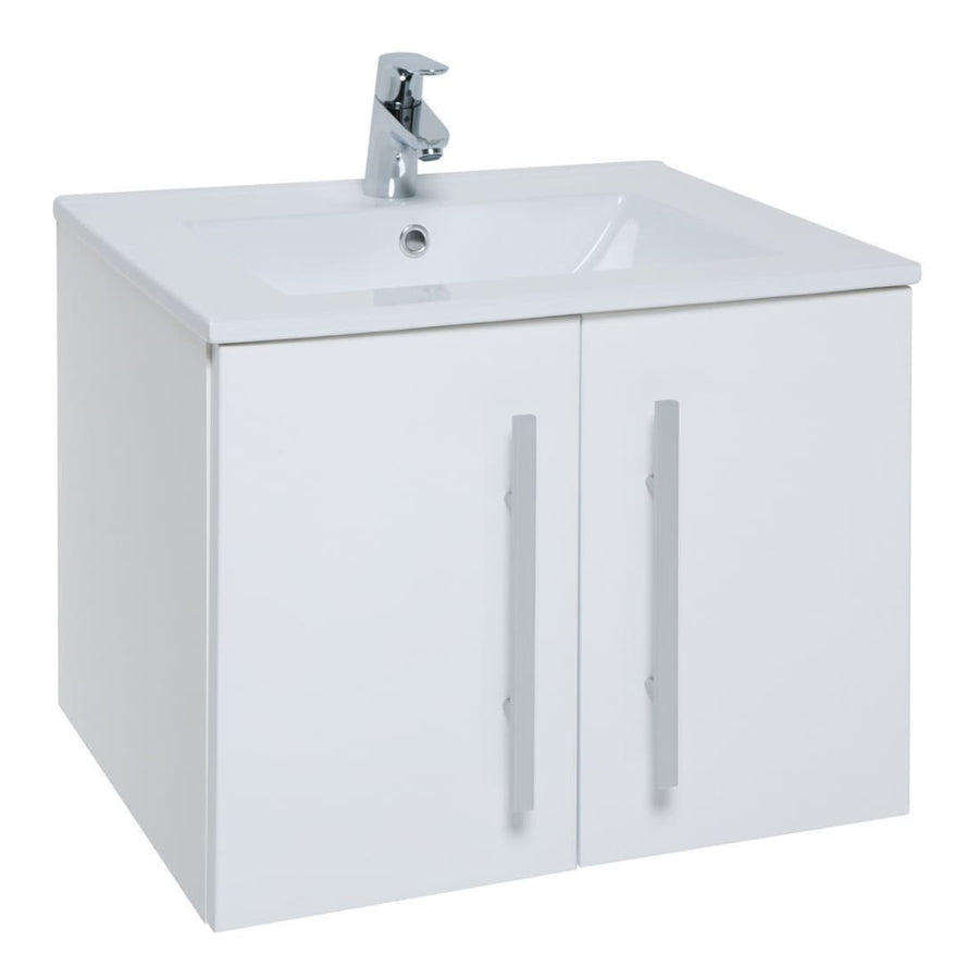 Kartell Purity Furniture Pack - Wall Mounted 2 Door Unit, Basin & WC - EverythingBathroom.co.uk
