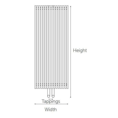 Kartell Radiator - Chicago Designer - Anthracite - EverythingBathroom.co.uk