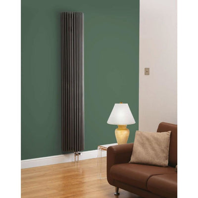 Kartell Radiator - Cincinatti Designer - Anthracite - EverythingBathroom.co.uk