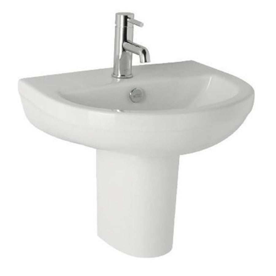 Kartell Revive 510mm 1th Basin and Semi Pedestal