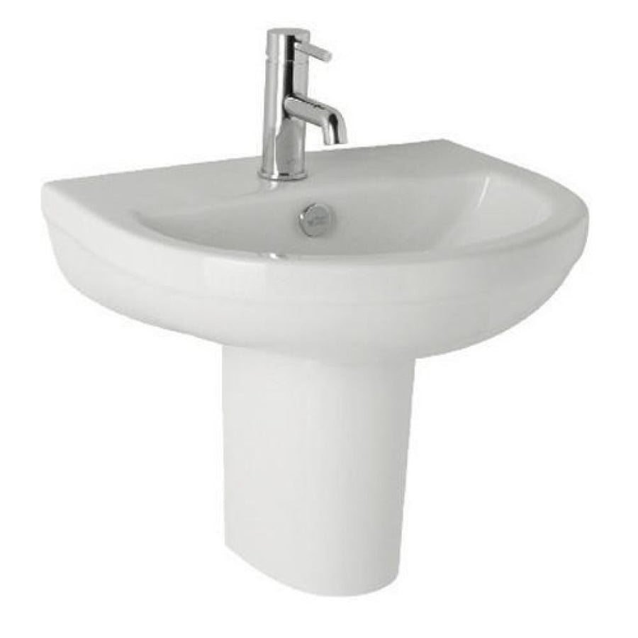 Kartell Revive 570mm 1th Basin and Semi Pedestal