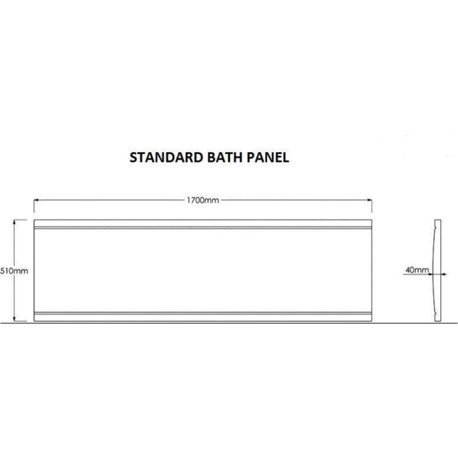 Kartell Standard Bath Panel - EverythingBathroom.co.uk