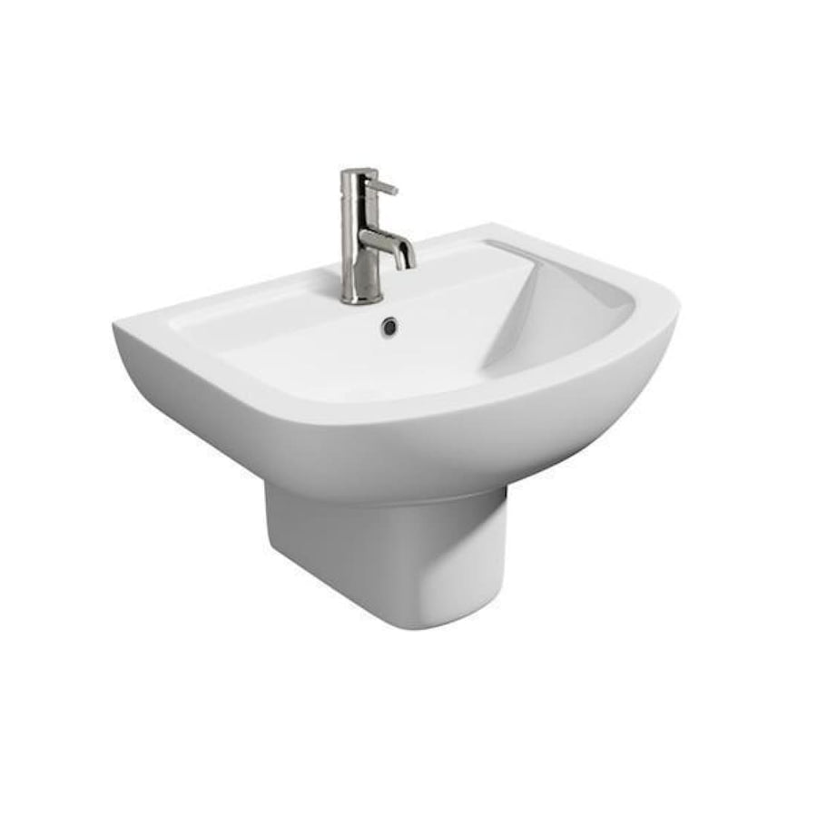 Kartell Studio Basin and Semi Pedestal - EverythingBathroom.co.uk