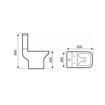 Kartell Trim Close Coupled WC - EverythingBathroom.co.uk