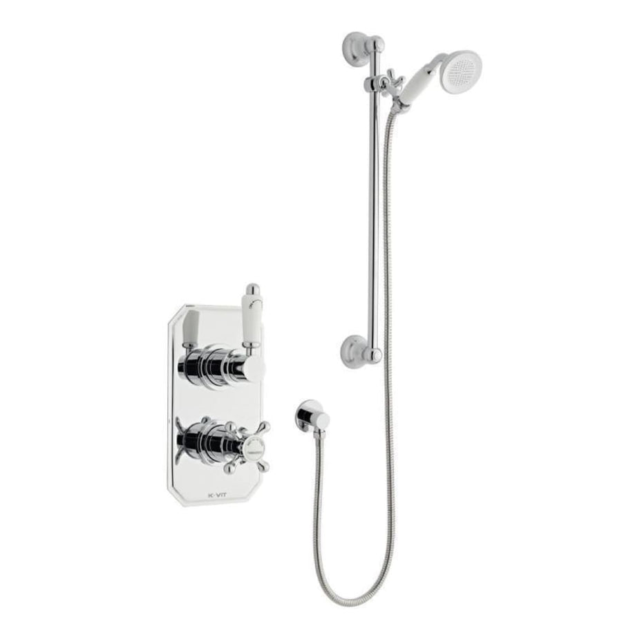 Kartell Viktory 1 Thermostatic Concealed Shower with Slide Rail Kit