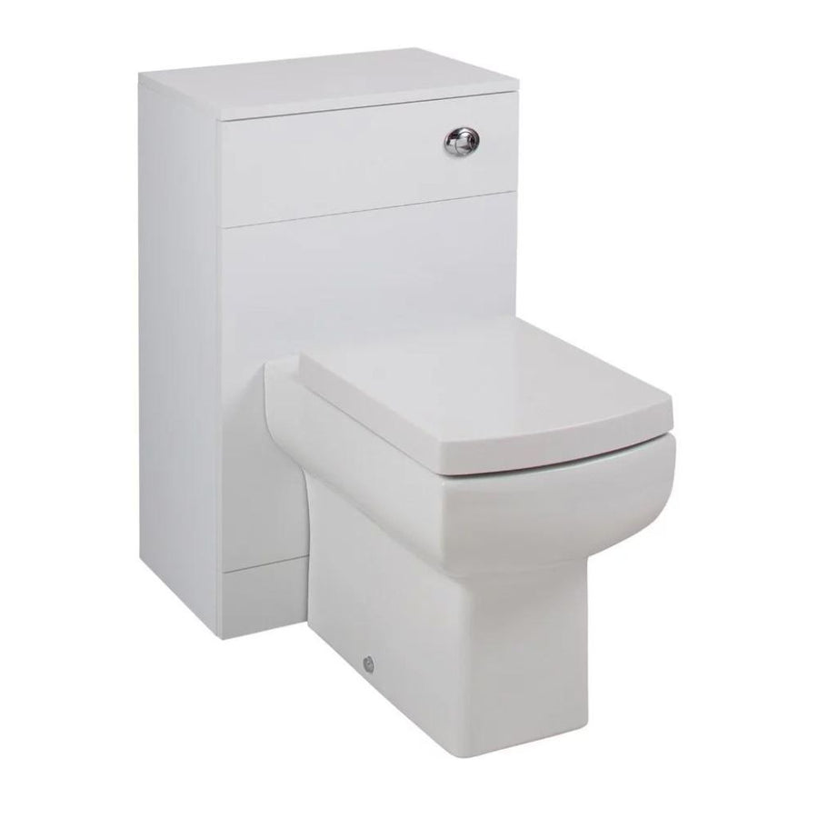 Kass Daisy Lou WC Unit with Toilet Pan and Seat + Cistern - 810mm Depth