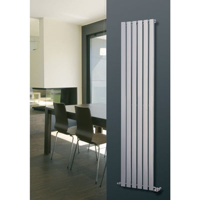MARS CHROME FLAT PANAL RADIATOR VERTICAL (CHROME) - EverythingBathroom.co.uk