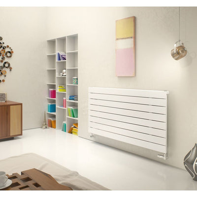 MARS DELUXE DUO HORIZONTAL RADIATOR (WHITE) - EverythingBathroom.co.uk