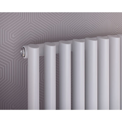 Nova Line Vertical Oval Tube Radiators - (WHITE) - EverythingBathroom.co.uk