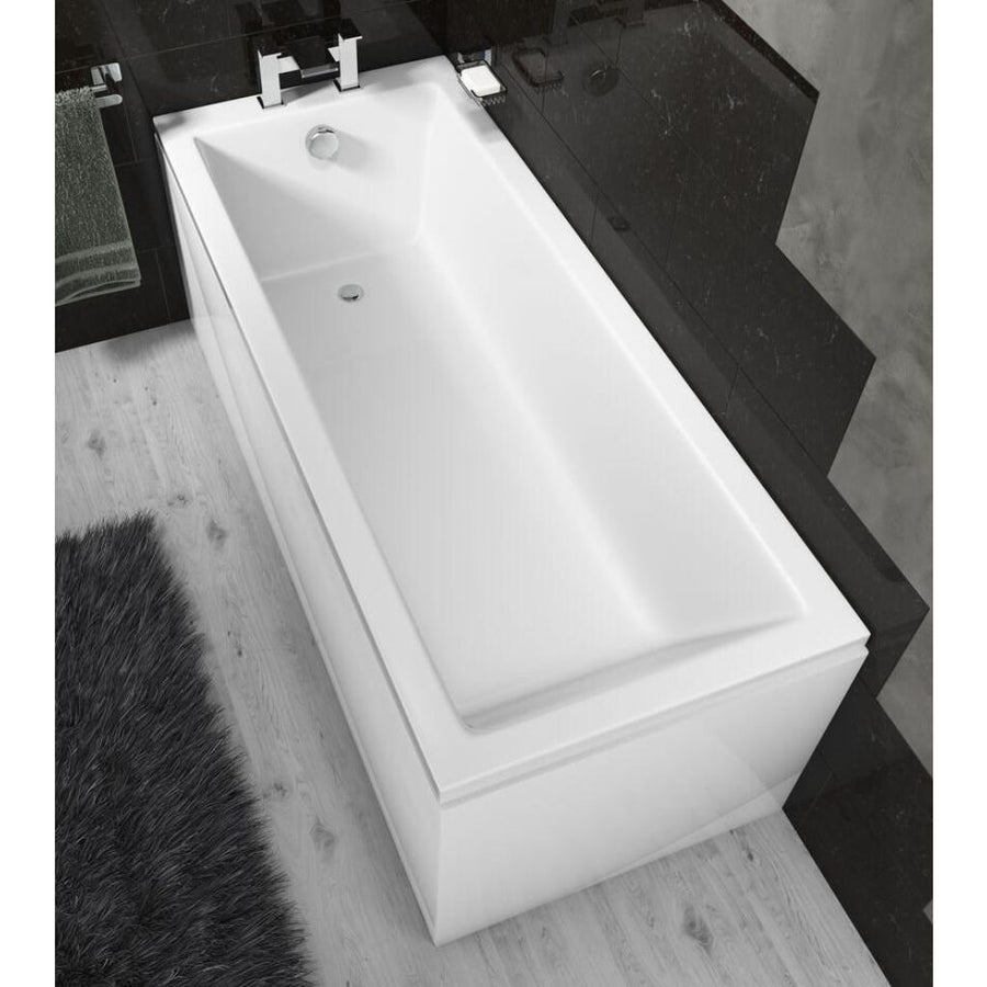 Pool Bath - Single End, Straight 1700mm x 700mm - Square Style - EverythingBathroom.co.uk