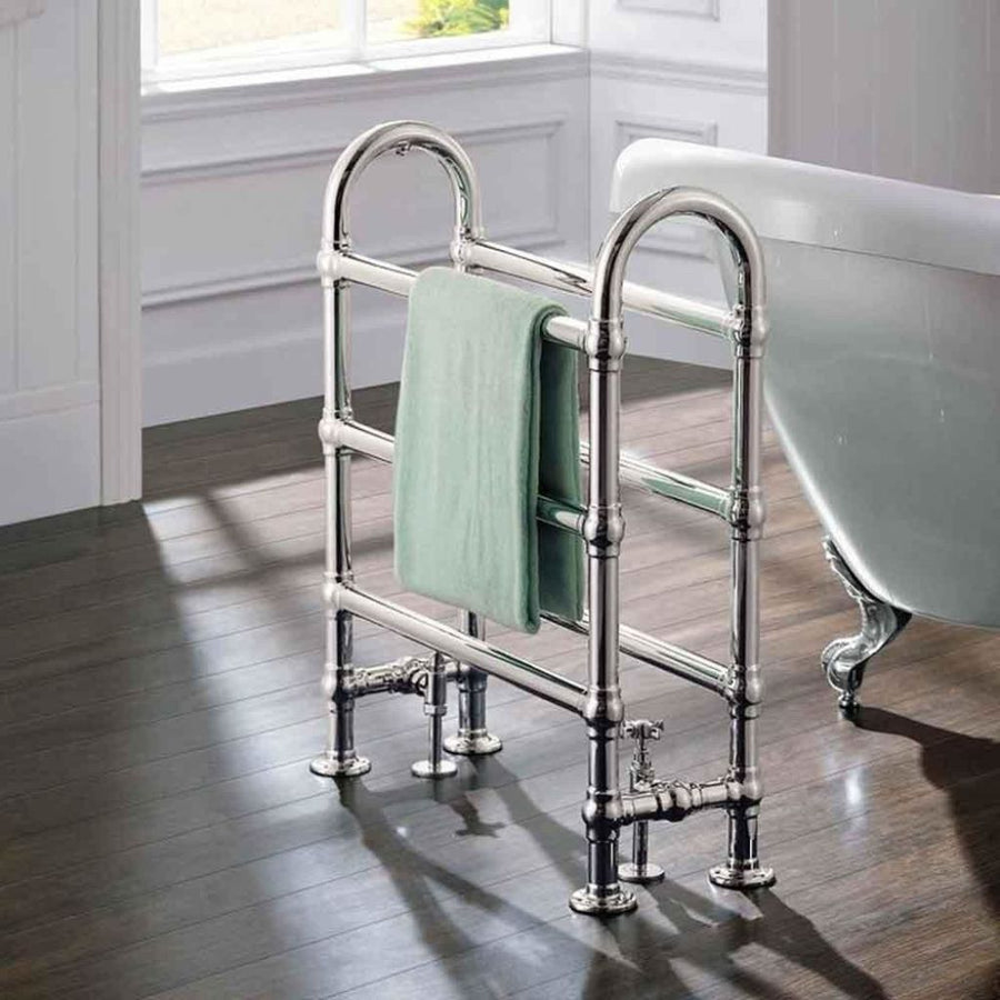 Traditional Chrome Freestanding Towel Rail H778 x W683mm