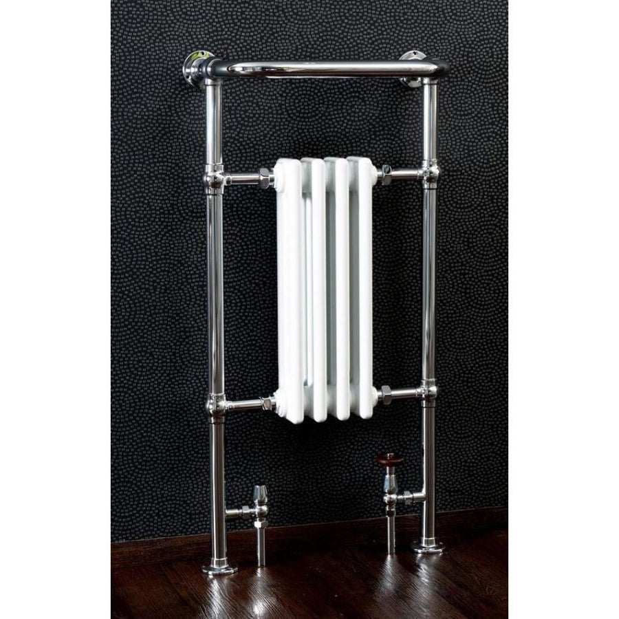 Traditional Chrome Heated Towel Rail - 965mm x 495mm - 4 Sections