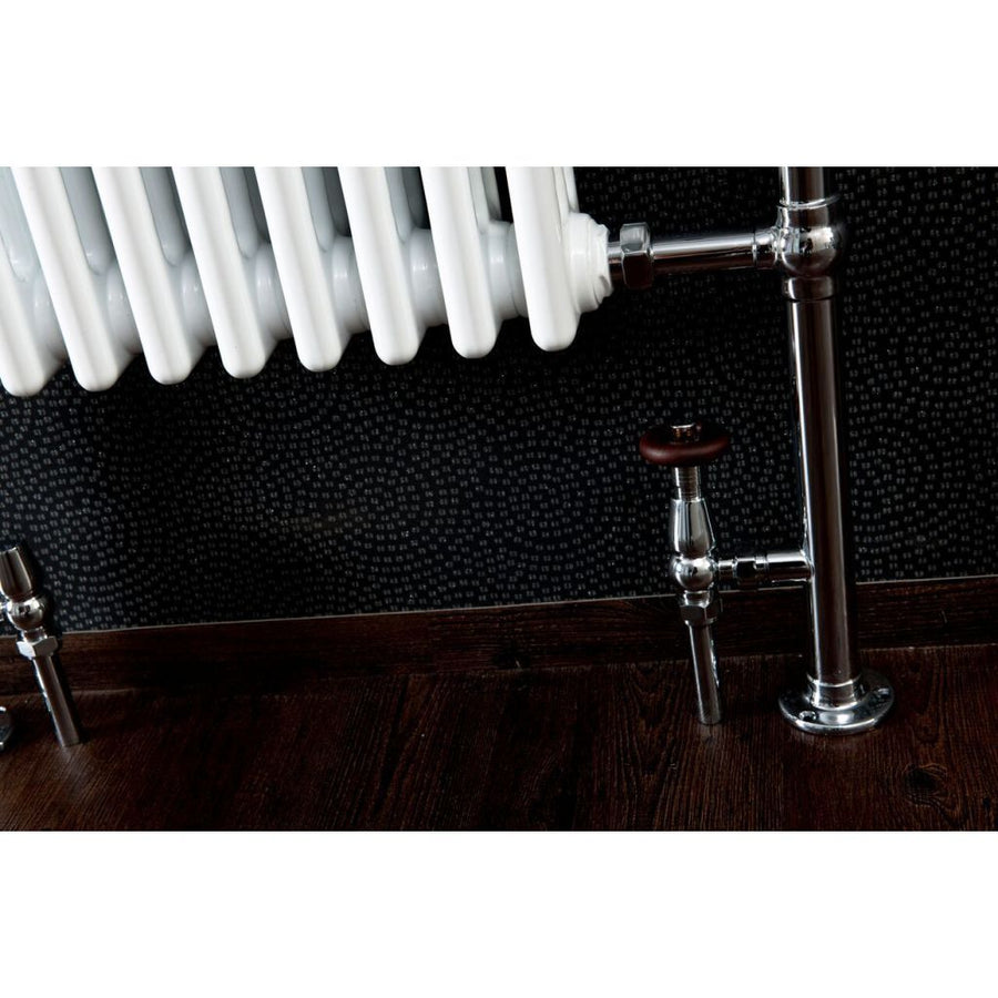 Traditional Chrome Heated Towel Rail - 965mm x 675mm - 8 Sections