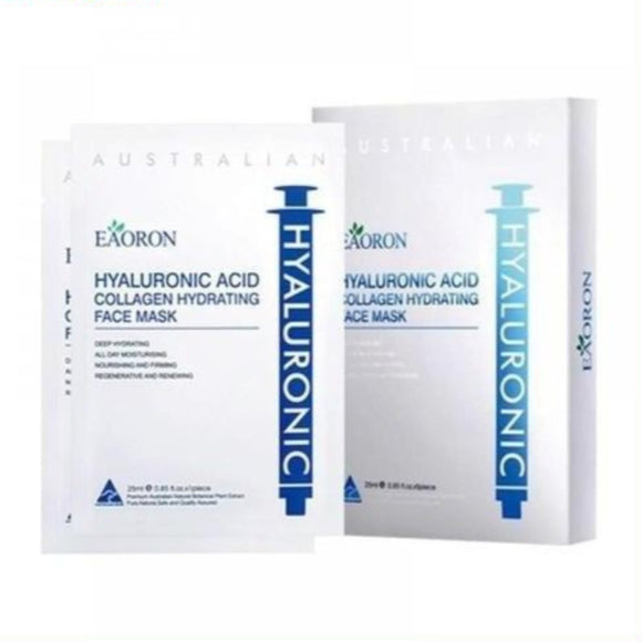 Eaoron-Hyaluronic Acid Collagen Hydrating White Face Mask 5pc