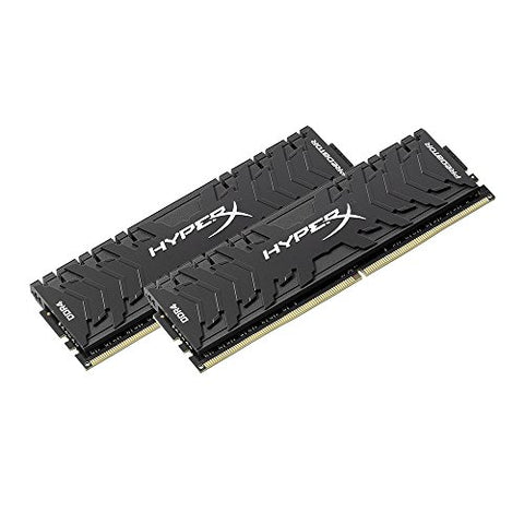 Kingston Technology HyperX Predator Black 16GB 3200MHz DDR4 CL16 DIMM XMP Desktop Memory HX432C16PB3K2/16