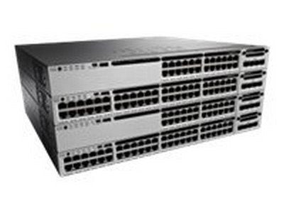 Cisco Catalyst 3850-24P-E - Switch - L3 - managed - 24 x 10/100/1000 (PoE+) - desktop, rack-mountable - PoE+