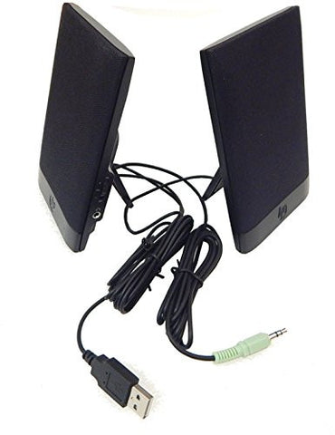 HP H-204B USB Powered Thin Flat Speakers 636917-001