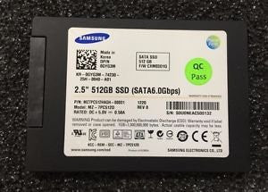 SAMSUNG GYG3M MZ-7PC512D Dell GYG3M MZ-7PC512D 2.5 Thin SATA SSD 512GB Samsung Laptop Ha