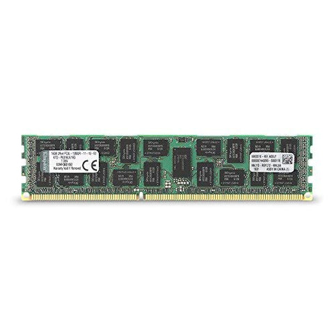 Kingston Technology 16GB 1600MHz DDR3 Reg ECC Low Voltage DIMM Memory for Dell Desktops (KTD-PE316LV/16G)
