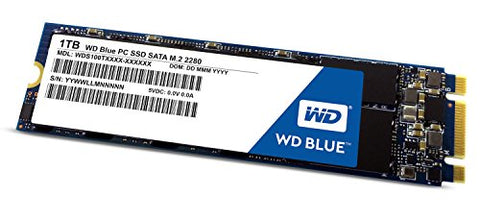 WD Blue 1TB PC SSD - SATA 6 Gb/s M.2 2280 Solid State Drive - WDS100T1G1B0B [Old Version]