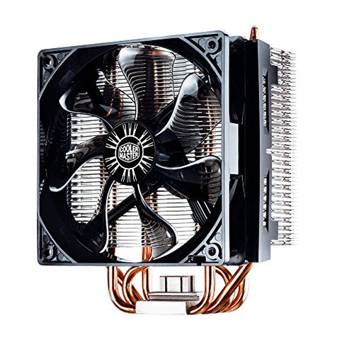 Cooler Master Hyper RR-T4-18PK-R1 CPU Cooler with 4 Direct Contact Heatpipes, INTEL/AMD with AM4 Support