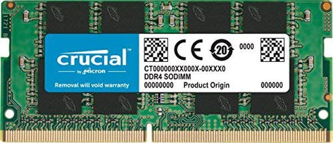 Crucial 8GB Single DDR4 2400 MT/s (PC4-19200) DR x8 Unbuffered SODIMM 260-Pin Memory - CT8G4SFD824A