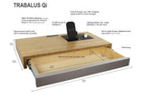 TRABALUS Qi - The Premium Wallboard charges all your devices