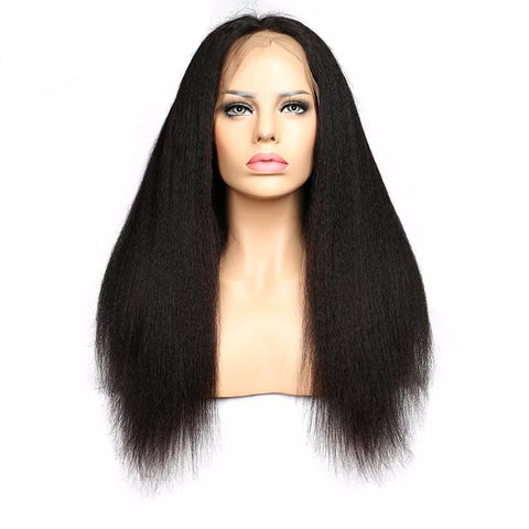 Brazilian Kinky Straight Full Lace Wig