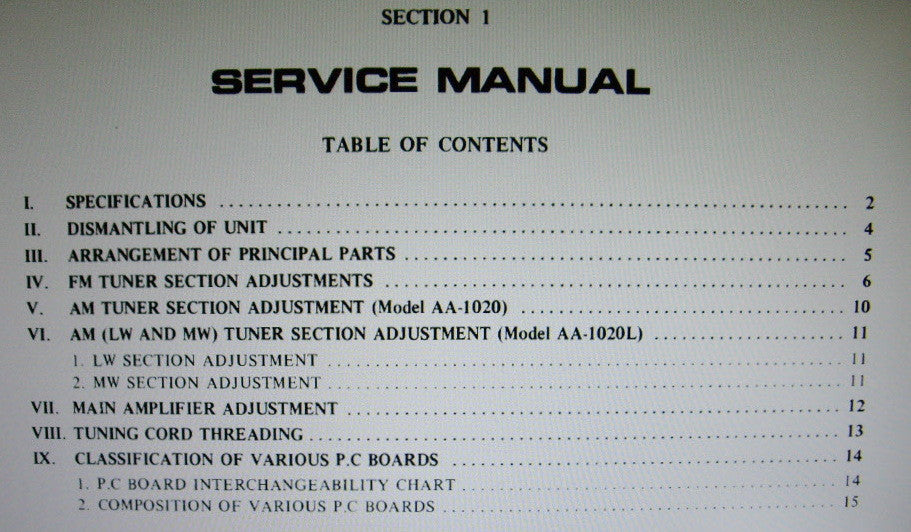 AKAI AM-1020 AM-1020L STEREO TUNER AMP SERVICE MANUAL INC BLK DIAG SCHEMS PCBS AND PARTS LIST 36 PAGES ENG