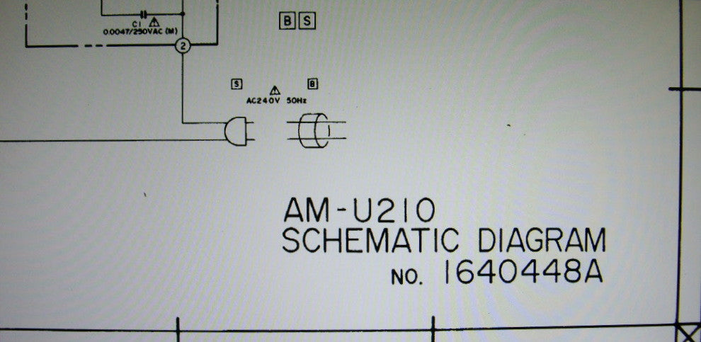 AKAI AM-U210 STEREO INTEGRATED AMP SCHEMATIC DIAGRAM 2 PAGES ENG
