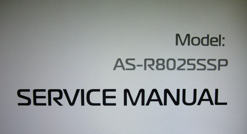 AKAI AS-R8025SSP SUBWOOFER SERVICE MANUAL INC SCHEM DIAG PCBS AND TRSHOOT GUIDE 10 PAGES ENG