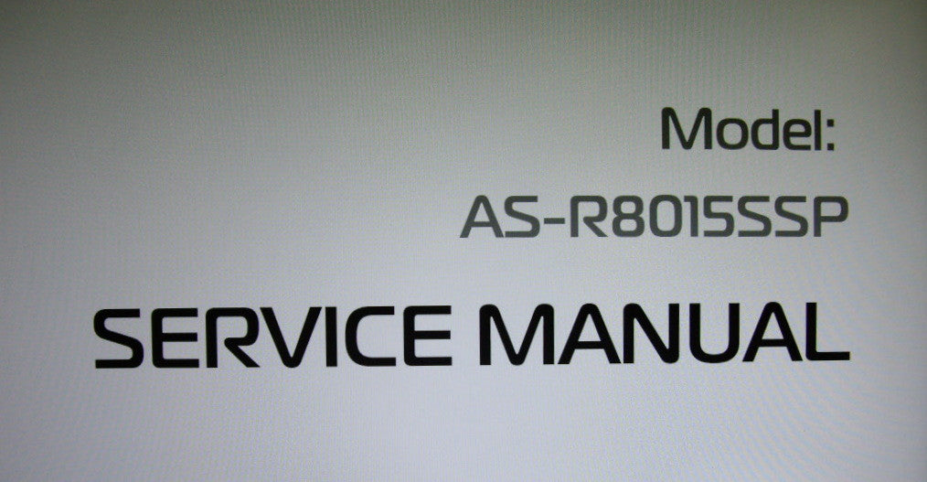 AKAI AS-R8015SSP SUBWOOFER SERVICE MANUAL INC SCHEMS PCBS AND TRSHOOT GUIDE 9 PAGES ENG