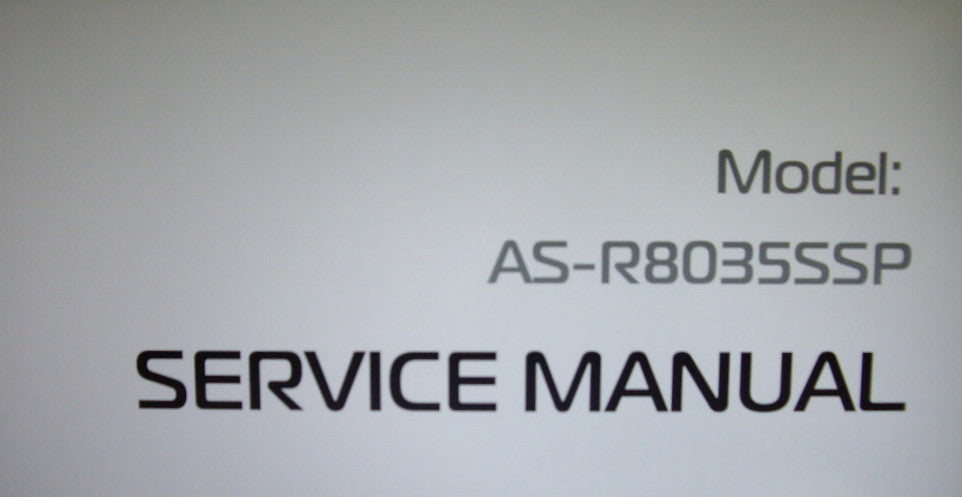 AKAI AS-R8035SSP SUBWOOFER SERVICE MANUAL INC SCHEM DIAG PCBS AND TRSHOOT GUIDE 10 PAGES ENG