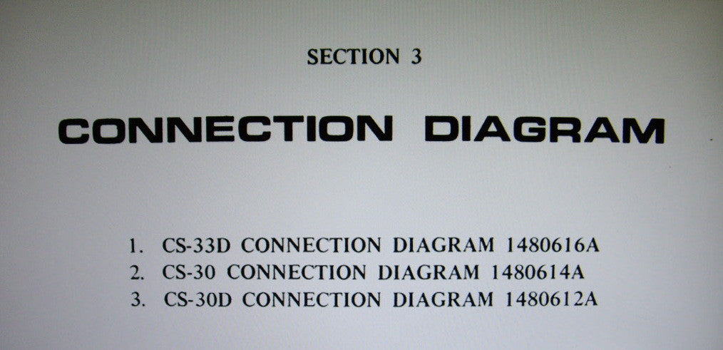 AKAI CS-30 CS-30D CS-33D CASSETTE STEREO TAPE DECK CONNECTION DIAGRAM 4 PAGES ENG
