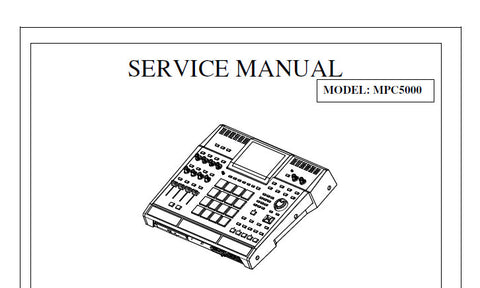AKAI MPC5000 MUSIC PRODUCTION CENTER SERVICE MANUAL INC BLK DIAGS WIRING DIAG SCHEMS PCBS AND PARTS LIST 50 PAGES ENG