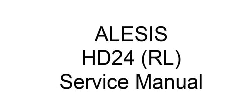 ALESIS ADAT HD24 (RL) HARD DISC RECORDER SERVICE MANUAL INC PCBS SCHEM DIAGS AND PARTS LIST 91 PAGES ENG